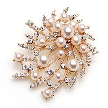 Korean women's accessories coat jacket wild fashion luxury atmosphere shawl buckle brooch pin simple brooch