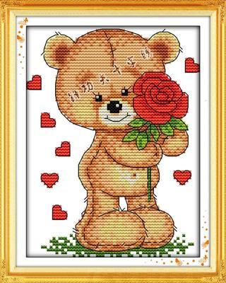 小熊十字绣图