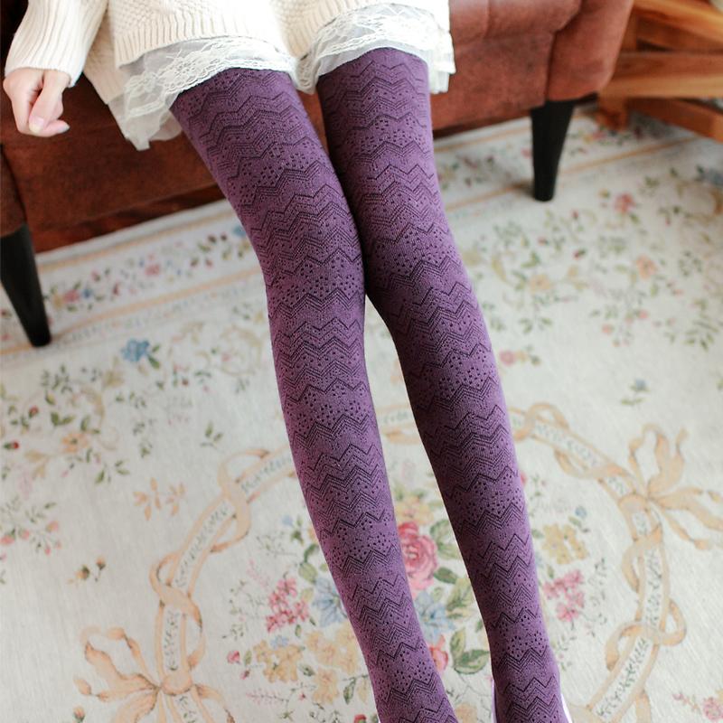 冬季花纹裤袜