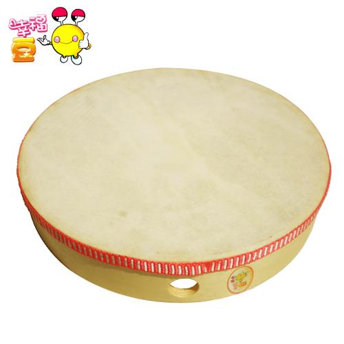 幸福豆:奥尔夫乐器10寸(直径25cm)手鼓 新疆舞手鼓 适合成人