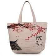 2018新款手绘帆布包女布袋单肩古风中国风民族风大学生上课背的包