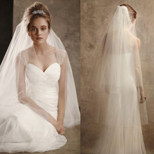 Bridal Veil nude gauze double veil can cover face with comb, soft yarn, new Korean wedding dress accessories.