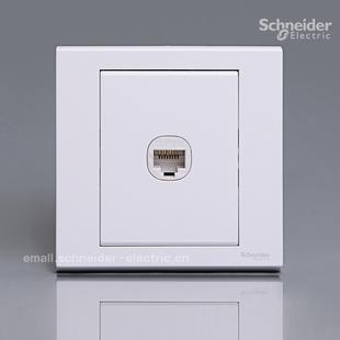 施耐德奇胜开关插座正品专卖面板/如意墙壁电脑网线宽带EV51RJ5