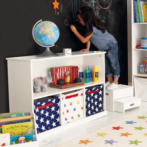 豆米宝贝儿童房家具欧式置物收纳书柜客厅自由组合书架木柜子包邮
