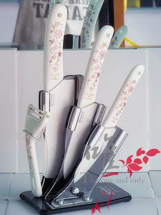 原装陶瓷刀具5件套装菜刀水果刀削皮器厨具刀切片刀 中秋节礼盒装