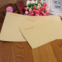 Bellow Kraft Paper No. 5 Envelope Post Office Standard Payroll Envelope Document Envelope Letterhead 220*110mm