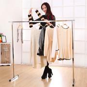 特价不锈钢落地折叠可伸缩单杠晒衣架免安装折叠单杆晾衣架挂衣架