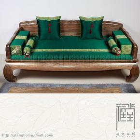 禧堂家居精品 中式真丝沙发垫罗汉床垫定制靠背枕扶手枕全系列