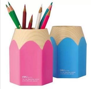 得力文具 可爱时尚彩色笔筒 得力笔筒 9145 大铅笔筒 创意笔筒