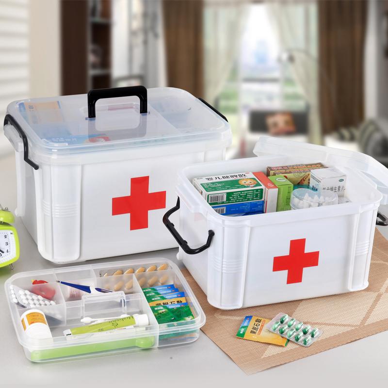 家庭特大号医药箱多层医用急救药品收纳保健箱家用塑料儿童小药箱