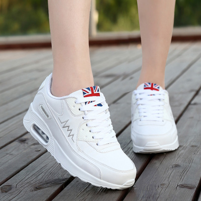2018新款百搭气垫小白鞋韩版秋季跑步女鞋休闲波鞋白色鞋子运动鞋