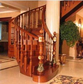 重庆定制整体楼梯 实木楼梯弧形楼梯 别墅洋房欧式楼梯 以歩计价