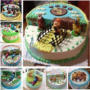 同城送货乌鲁木齐市儿童卡通光头强托马斯蛋糕达坂城区米东蛋糕店