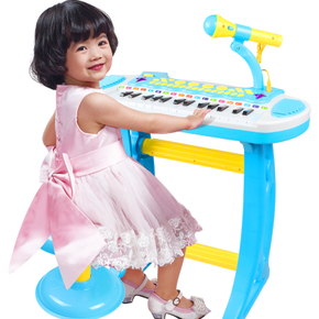 寶麗升級版音樂電子琴可調節麥克風男孩女孩早教益智玩具兒童鋼琴