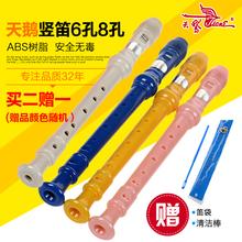 天鹅6孔8孔儿童学生初学竖笛六孔八孔树脂笛子八孔六孔竖笛8孔学