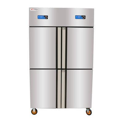 康普仕商用 立式四门冷柜商用立式冰柜冰箱双机双温冷藏冷冻保鲜