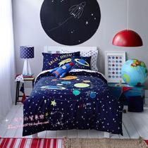 床上用品1.8m美式全棉加厚提花磨毛四件套纯棉秋冬保暖被套床单