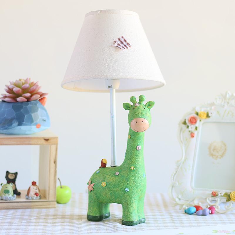 欧式创意家居卧室床头灯温馨台灯装饰小夜灯可调光可爱长颈鹿灯具1元优惠券