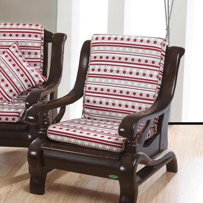 单三人座实木椅子厚海绵简约沙发坐垫带靠背一体/连体冬 特价包邮口碑如何