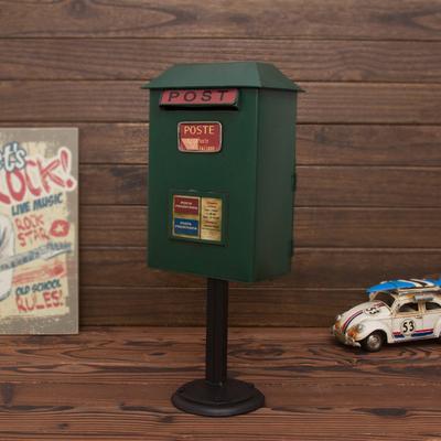 欧璟美 铁皮邮筒信箱摆件 存钱储蓄罐 咖啡厅软装家居摄影工艺品