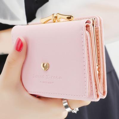 泰莉安女士钱包女短款日韩ins简约学生小钱包迷你零钱包钱夹皮夹