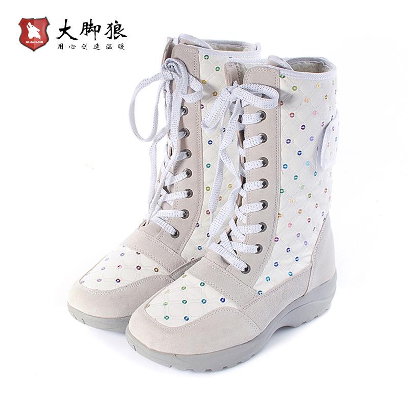 大脚狼充电发热保暖雪地靴棉 电热暖脚宝女 鞋子可行走8-9小时
