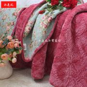 Winter plush bedding flannel cotton quilted bed cover single piece spring and autumn air conditioning thin thickened quilted sheets