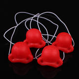 Children show red nose, elastic band, adult red nose, children's red nose, funny red nose