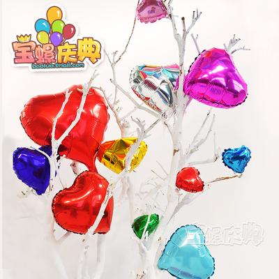 18寸心形铝膜气球桃心爱心铝箔气球结婚婚礼生日装饰微商地推礼品