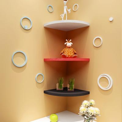 金耀墙壁上三角扇形搁板转角墙角置物架壁挂隔板书架装饰创意格架