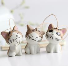 热卖小奇手工陶瓷可爱私房猫日韩流行人气饰品小包挂摆件特价