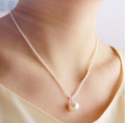 珍珠项链 2-3mm小米粒 天然淡水多层手链 简约925纯银可调节