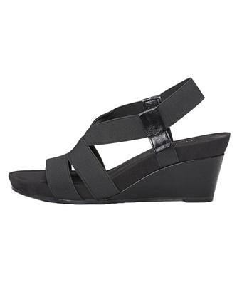美国直邮 66348 AEROPOSTALE女鞋凉鞋真皮中坡跟系带露趾纯色简约