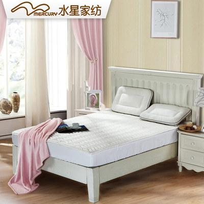 水星家纺全棉床垫竹纤维透气针织床褥榻榻米软床垫可折叠1.5防滑