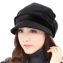 According to the pigeon fashion Bailey hat female autumn and winter Korean version of the tide British versatile winter ladies hat Japanese casual elegant