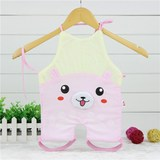 Autumn and winter baby quilted thickening even leg apron new cartoon shape baby anti-kicked by cotton even leg apron