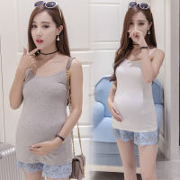 Pregnant women's camisole vests in the bottom of the shirt short paragraph loose suspender skirt in the summer to take a short underwear halter shirt