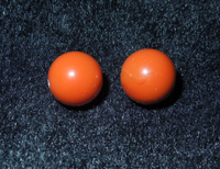 South Red Agate To Beads, Persimmon Red Almost Pure 10mm Two Star Moon Bodhi Accessories