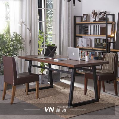 loft铁艺实木办公桌