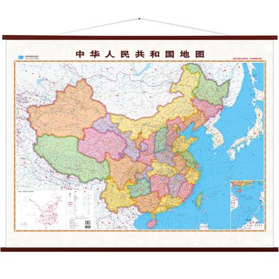 【指挥官-精装版】中国地图挂图办公2018全新版 超大1.6米x1.24米 整张大幅面 办公室家用客厅
