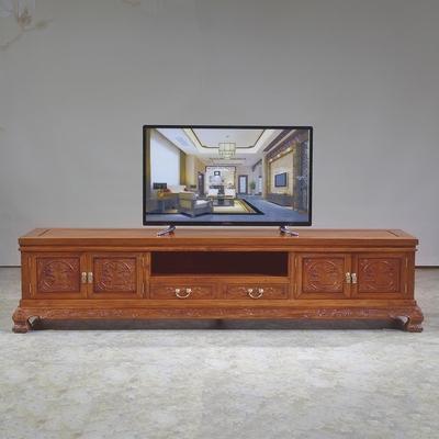红木家具缅甸花梨木电视柜大果紫檀中式古典客厅柜卧室影视柜地柜品牌旗舰店