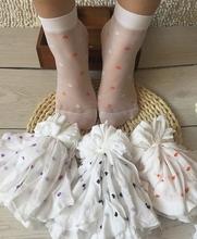 10双装儿童袜子女童白色薄款短袜夏季网眼透气泡泡袜牛奶丝宝宝袜