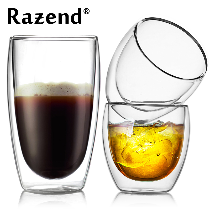 双层玻璃品茶杯子