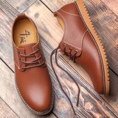 男士休闲鞋冬季加绒保暖棉鞋韩版英伦内增高男鞋子真皮青年皮鞋潮