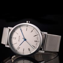 库存老款东方双狮男表中老年全钢日本双狮三星手表全自动机械手表