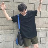 简约纯色T恤休闲修身 半袖 体恤潮流 短袖 圆领韩版 日系情侣夏季男士
