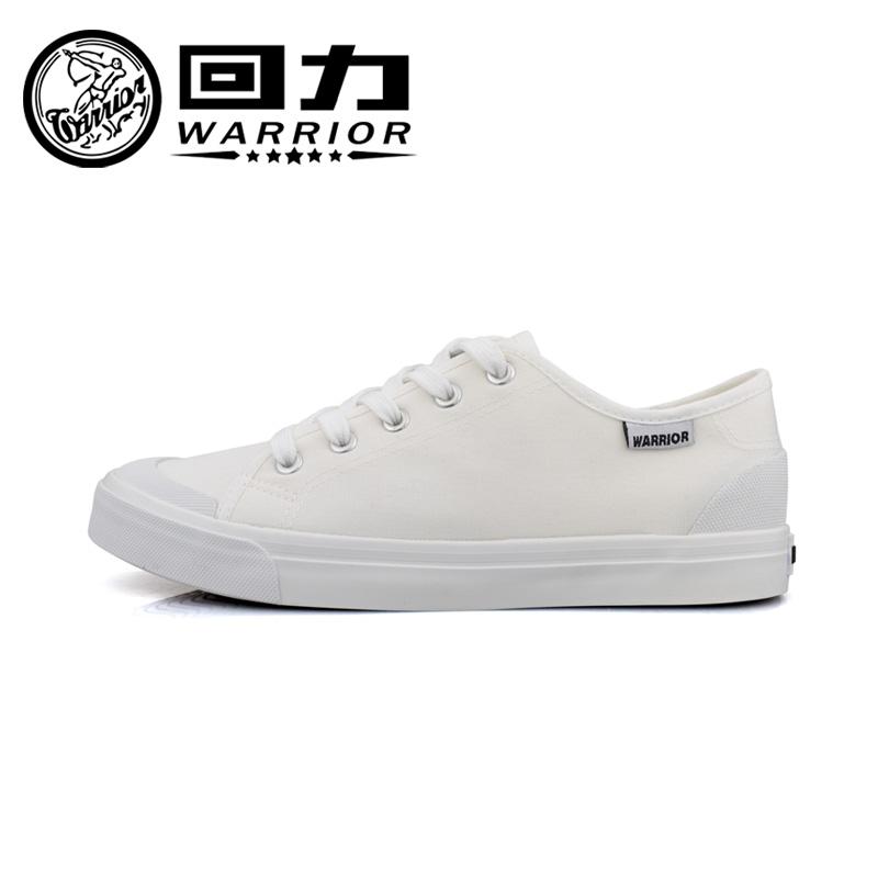 Warrior/回力新款白色休闲男鞋简约帆布鞋纯色学生鞋小白鞋806T