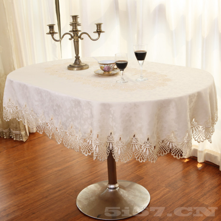 高档欧式简约现代椭圆形桌布餐桌布椅套椅子套纯色布艺餐厅台布垫1元优惠券