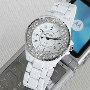 图片:正品SINOBI时诺比时尚腕表 韩国女士手表 女表水钻表 石英表