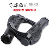 Bicycle handlebar set mountain bike pair aluminum alloy horns gloves rubber sponge bicycle anti-skid meat ball handlebar